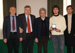 4 da sinistra Pier Luca Montessoro, Alberto Felice De Toni, Roberto Rinaldo, Michael Vidoni e il marito di Marinella Panozzo