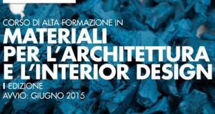 Materiali per l'architettura e l'interior design, a lezione con le aziende leader del settore