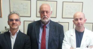 Da sinistra: dott. Silvio Chericoni, prof. Mario Giusiani, dott. Fabio Stefanelli