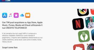 TIM: ora è possibile usare il credito telefonico anche per gli acquisti su App store, Apple Music, iTunes & iBooks