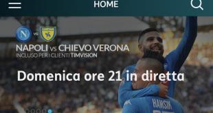 Live su TIMVISION tutte le partite amichevoli estive del Napoli Calcio