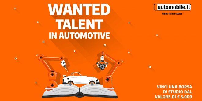 """Torna """"Wanted Talent in Automotive"""", la borsa di studio di automobile.it"""