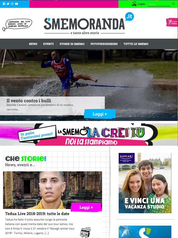 Torna Smemoranda con un sito nuovo e il concorso di personalizzazione