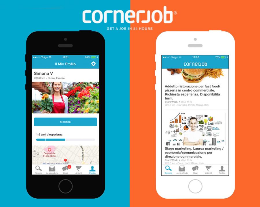 Quadruplicano le offerte di lavoro su CornerJob