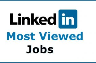 LinkedIn Most Viewed Jobs 2018