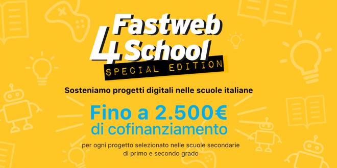 Si è aperta un'edizione speciale diFastweb4School